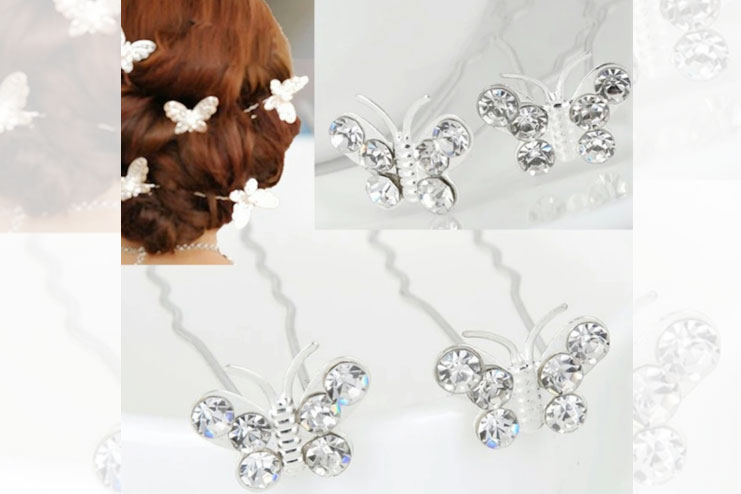 Glamor puss hair pins for brides