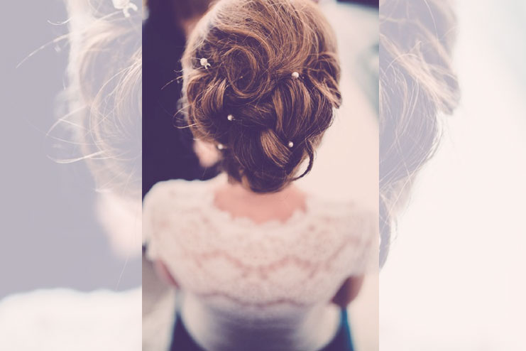 Just one crystal bridal hair pins