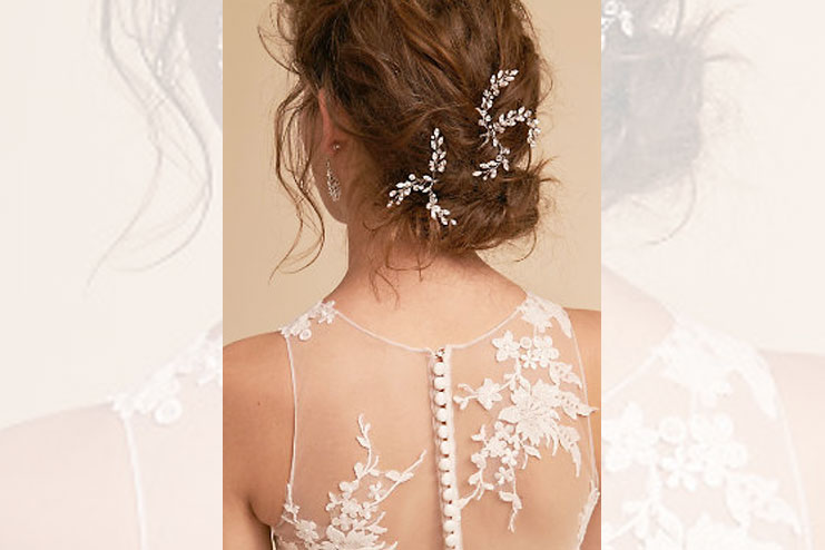 Leaflet bridal hair pins