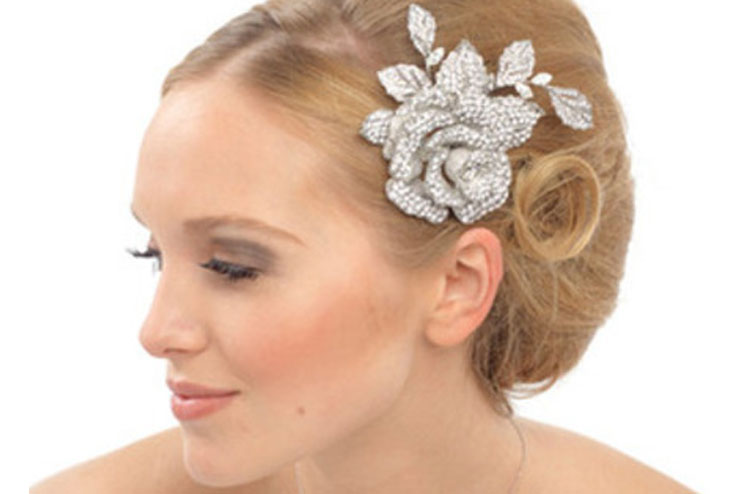 One big silver rose hair pin