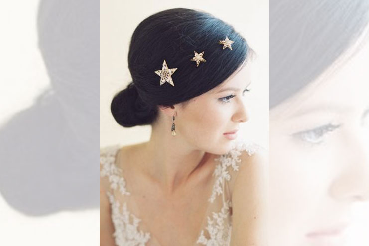 Star bridal hair pins