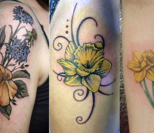 Daffodil Tattoos Designs