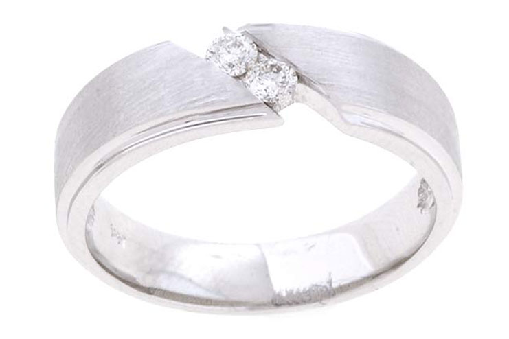 Two stone diamond mens ring