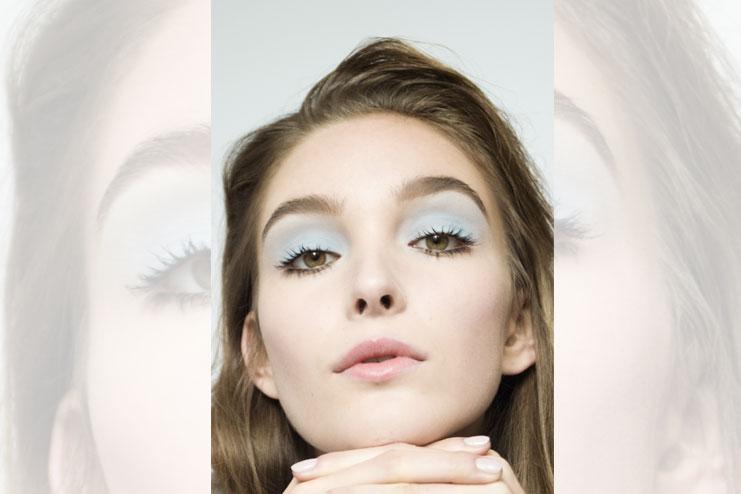 Pastel blue eyelids