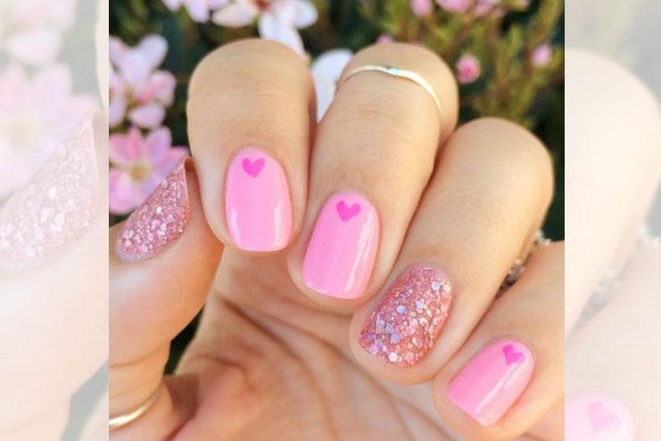 Elegant pink and shimmer