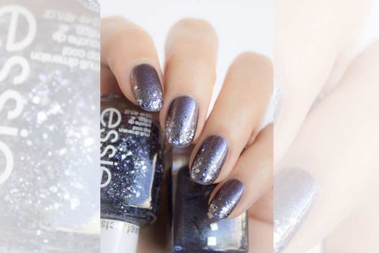 Cosmic love nail art