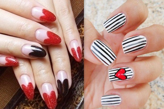 valentine day nail art ideas