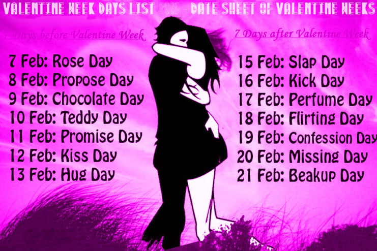 Have you read about Valentine\'s day Week list yet? (An interesting ...
