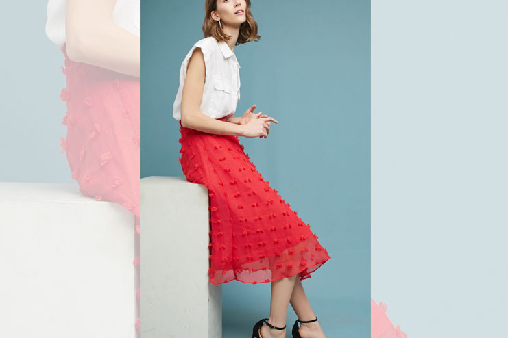 Marlow textured skirt and blouse
