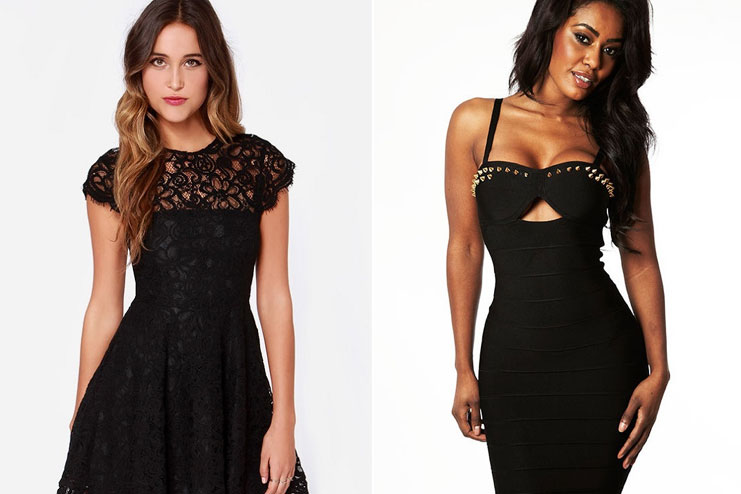Black and laced outfits
