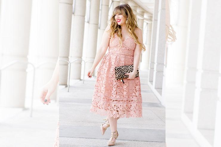 Laced midi dress