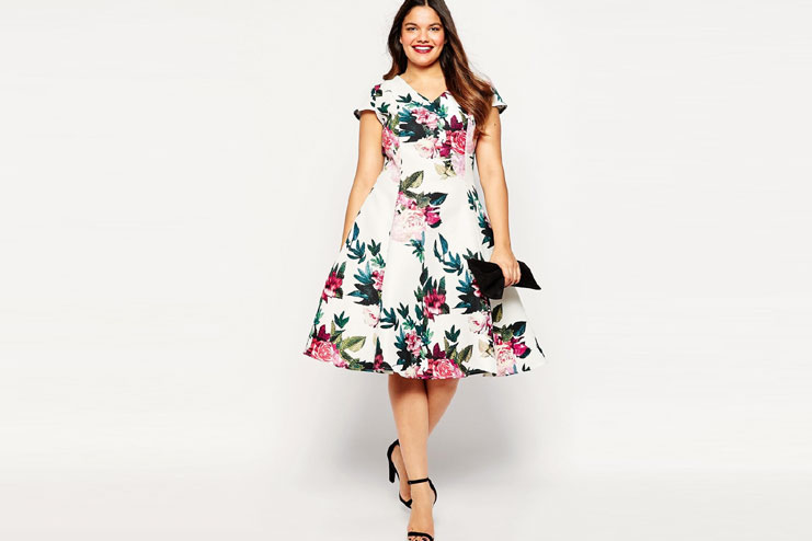 Floral classic dress