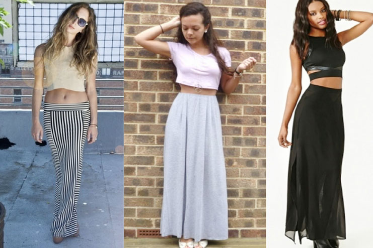 Style crop top with a long skirt-Crop Top