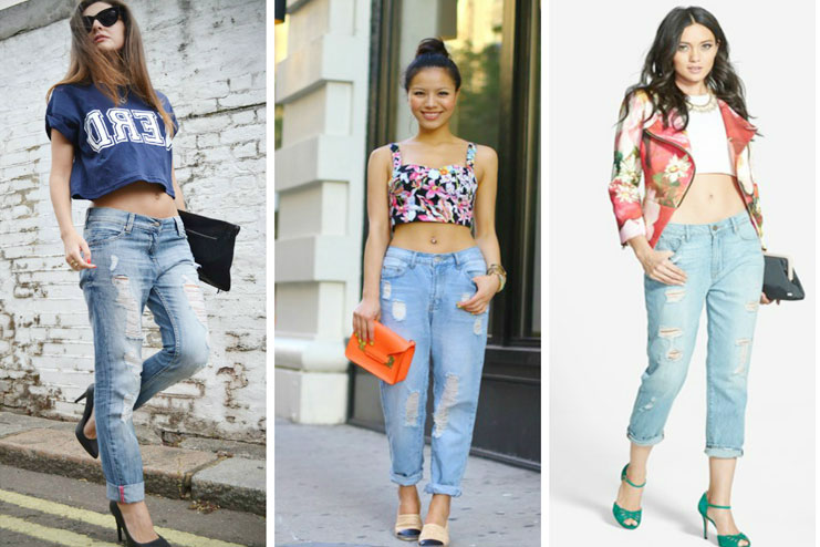 Crop top and boyfriend jeans-Crop Top
