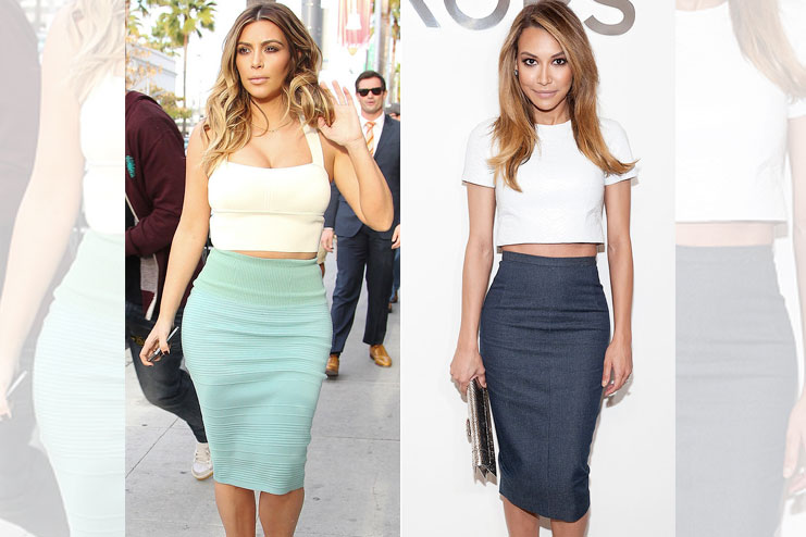 Wearing crop top with a pencil skirt-Crop Top