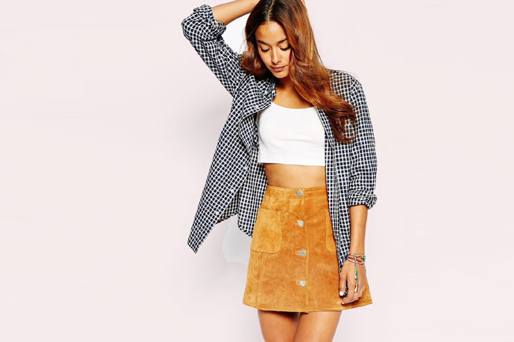 Pair crop top with an unbuttoned shirt-Crop Top