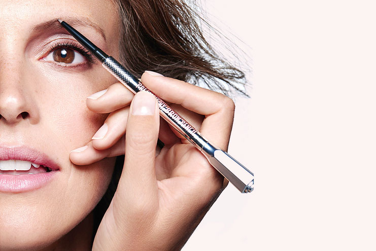 Use eye brow pencil to now shape the entire eyebrow