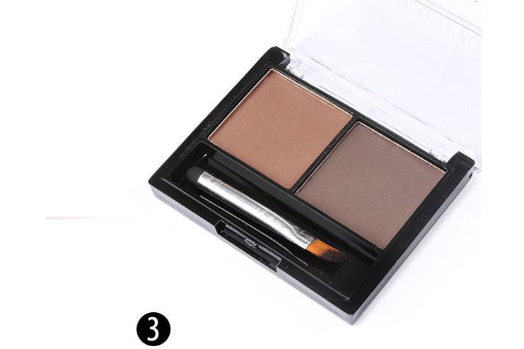 Use eyebrow powder to fill in the gaps