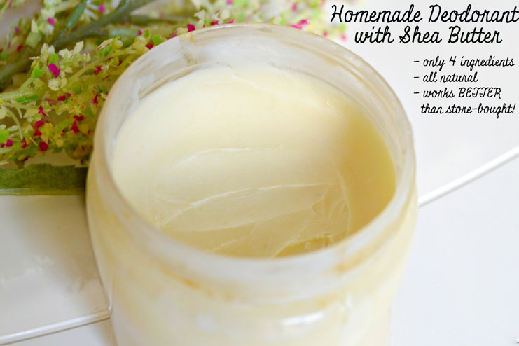 Shea butter homemade deodorant
