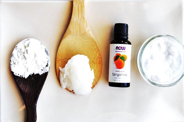 Essential oil homemade deodorant