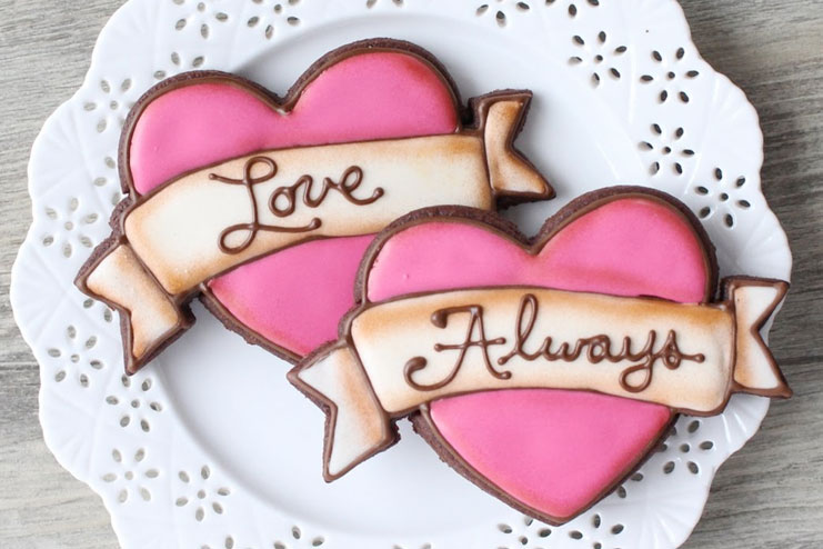 Valentine's day cookies with love-Valentine's Day gift ideas