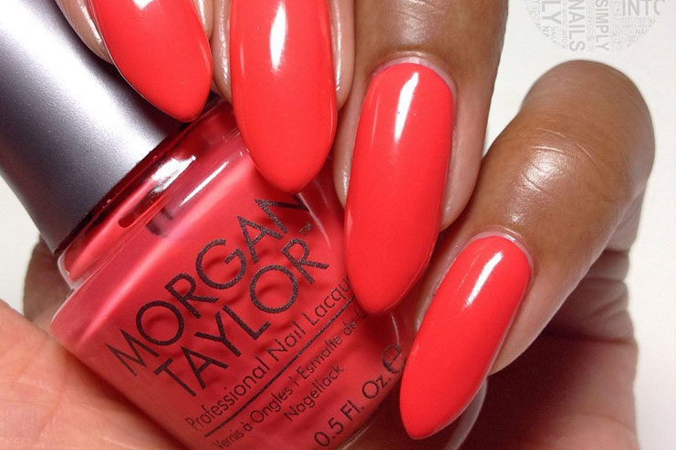 Morgan Taylor Neon Lights Red Nail Polish
