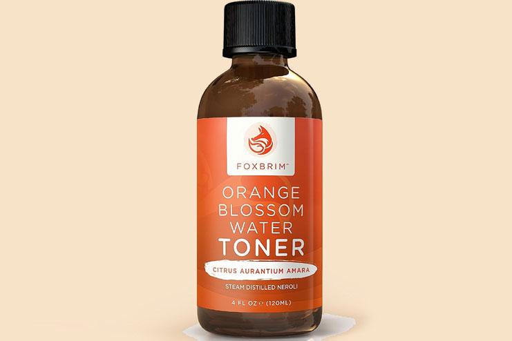 Orange blossom water face toner