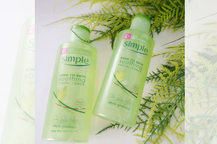 Simple kind to skin facial toner