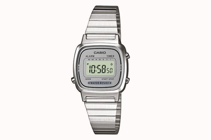 Casio women's stainless steel digital watch
