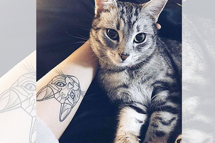 Cat Dotwork Tattoo