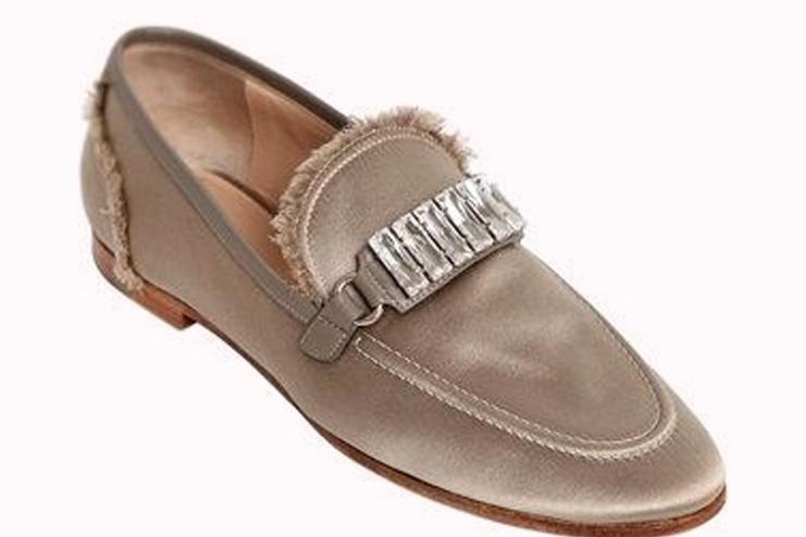 Daphne Satin Fringe women's Loafers