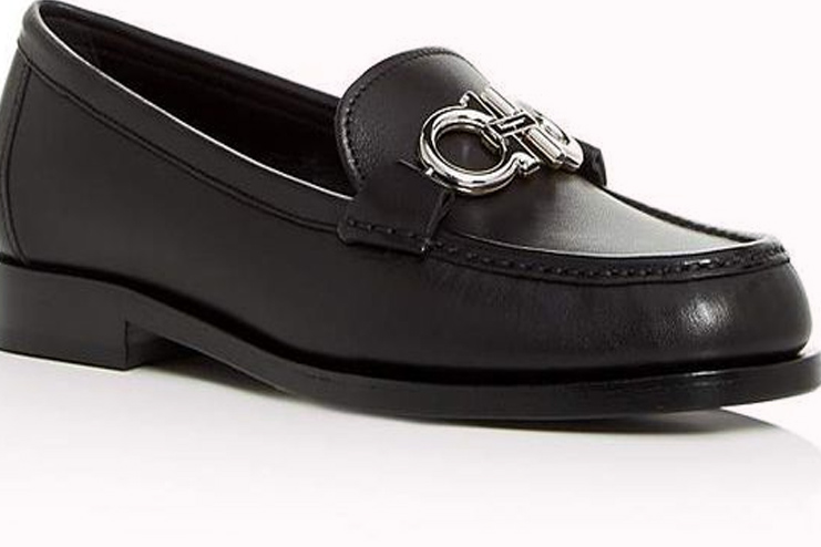 Reversible Gancini Leather loafers