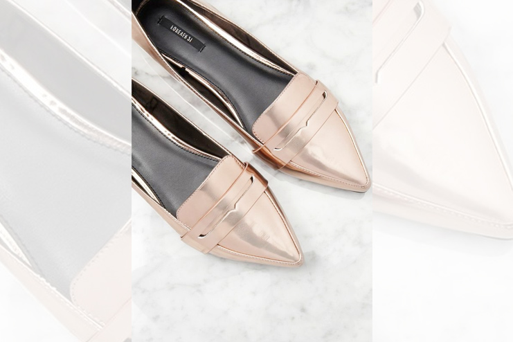 Faux Leather Pointed Loafers - Forever21