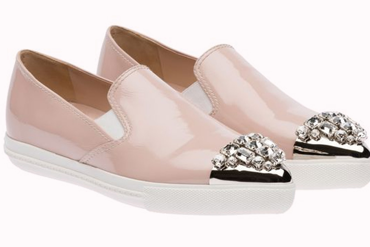 Pale Pink Sneakers - Miu Miu