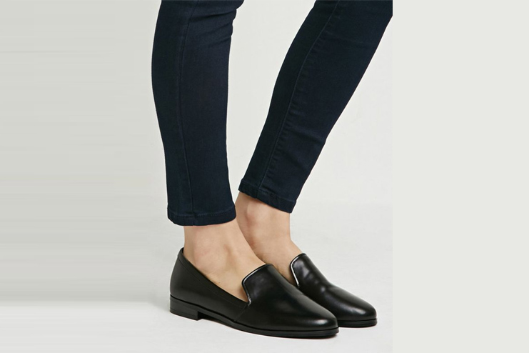 Faux Leather Loafers - Forever21