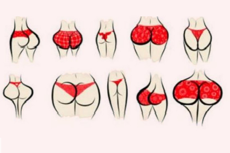 butt shapes for women