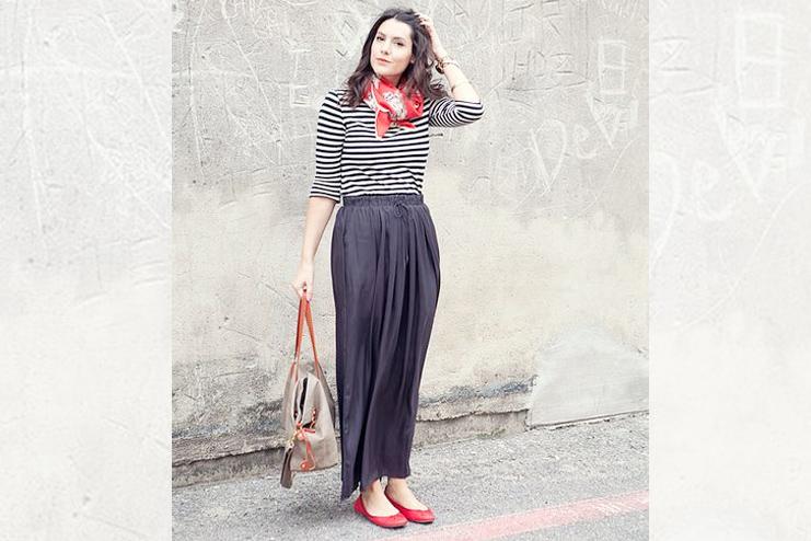 Drawstring Maxi Skirts