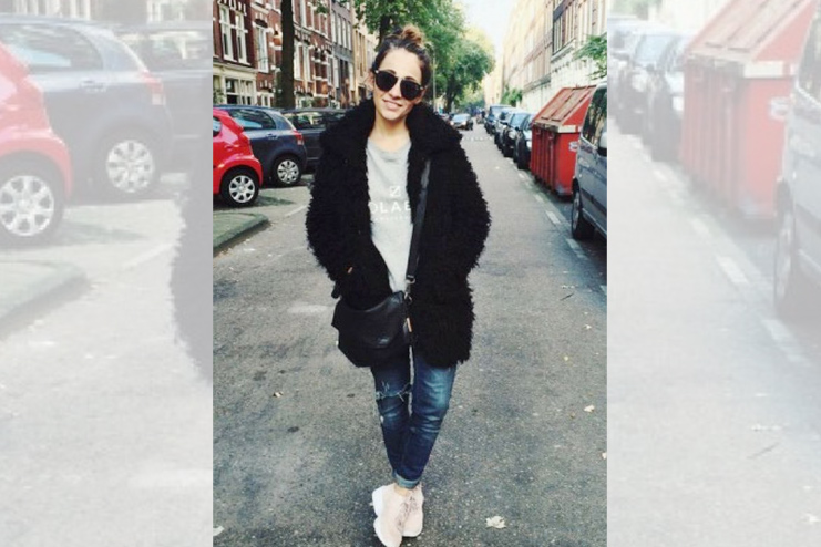 Fur coat and graphic t shirts