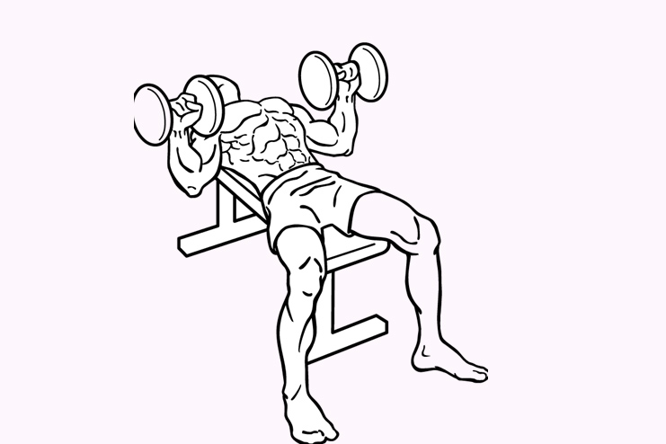 Dumbbell press- 10 reps