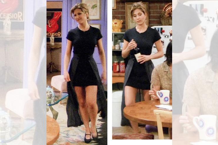 The black skirt dress