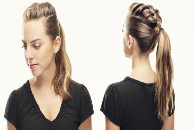 The mohawk braid ponytail