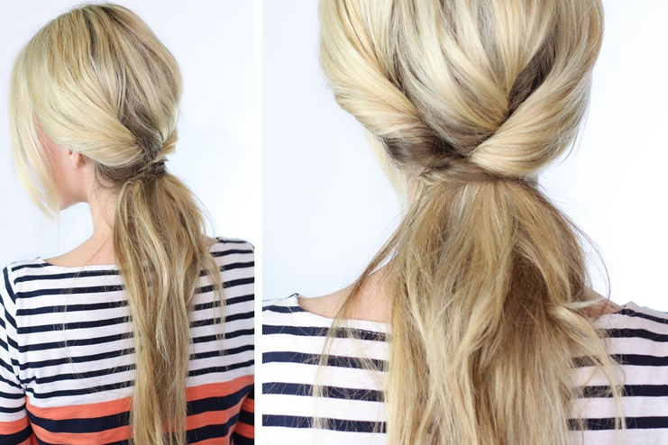 Twisted ponytail