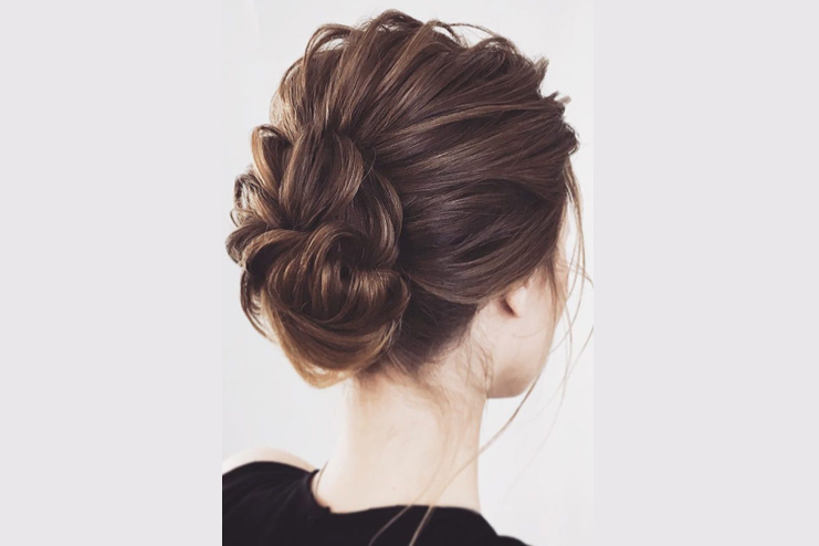 The one that's a low chignon