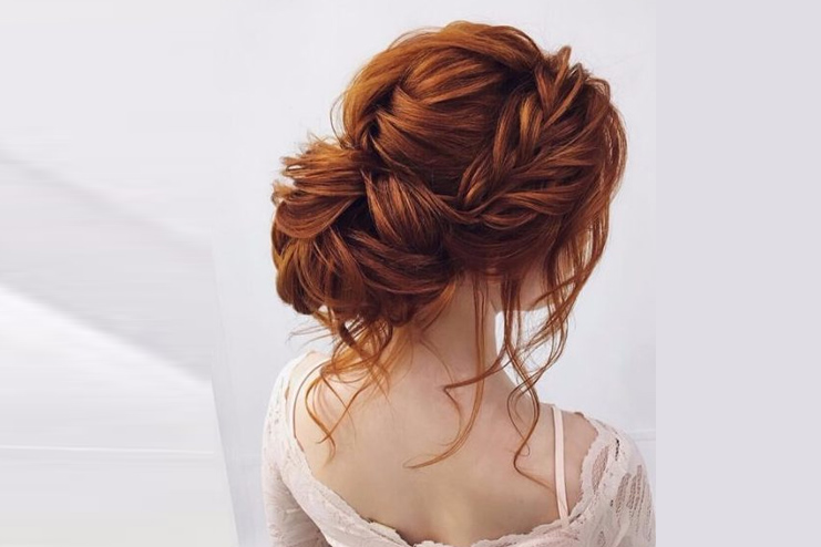 The one that's the messy romantic hair updo