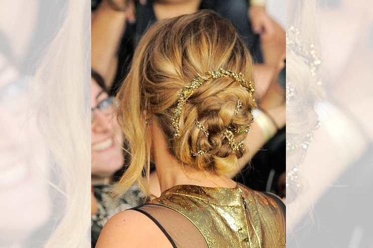 The one with the Grecian Goddess updo