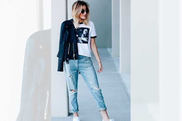The one with the boyfriend jeans