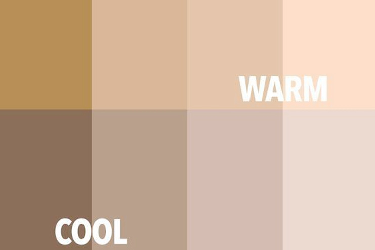 Warm and Cool Skin tone
