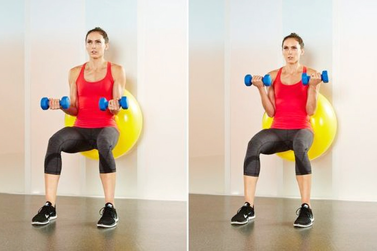 Stability Ball Workout for Biceps