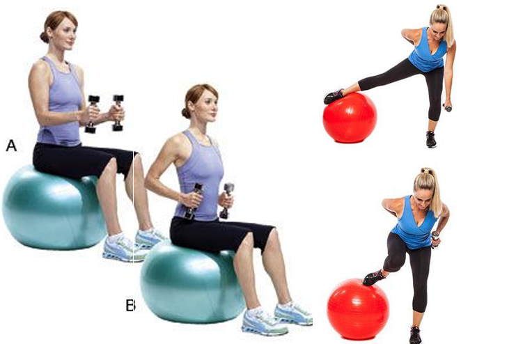 Stability Ball Workout for ForeArms