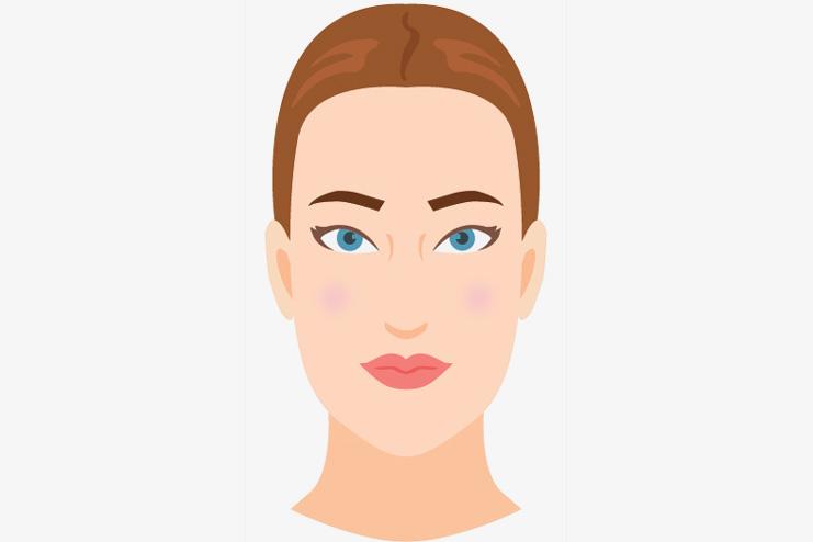 An Oblong Face Shape